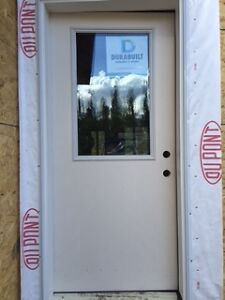 Brand new Fibreglass exterior door with window