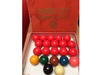 Full set of good condition snooker balls