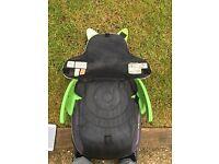 Trunki BoostApak Travel Backpack Booster Car Seat (Green)