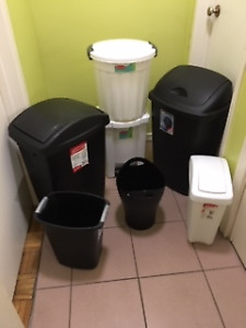 GARBAGE CANS and WASTE BINS