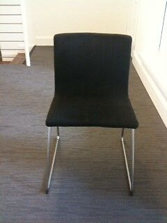 Exceptionnel IKEA Bernhard Chairs X 12   Black Fabric With Chrome Legs