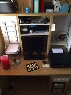 IKEA Office/sudy Desk With Computer Storage Features.