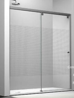 Shower screen with sliding doors. 120cm