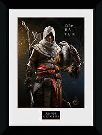 RARE Assassin's Creed Origins Art Print Wall Frame: Bayek