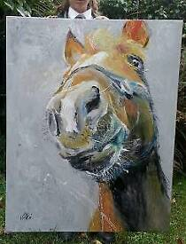 Large original painting - Portrait of a horse - New