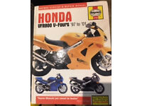 Haynes manual for Honda VFR 800 V-Fours - 1997 - 2001