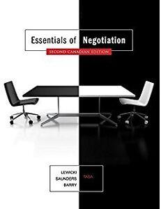 Negotiation lewicki 7th edition