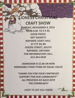 Napanee Lioness Christmas Craft Show