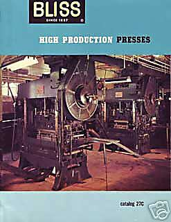Bliss High Production Presses Sale And Specifications