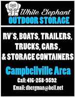 OUTDOOR STORAGE RV'S AND BOATS etc; plus 40' CONTAINER STORAGE