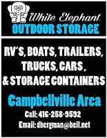 OUTDOOR STORAGE RV AND BOATS etc; plus 40' CONTAINER STORAGE