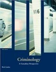 Paperback - Criminology A Canadian Perspective Linden