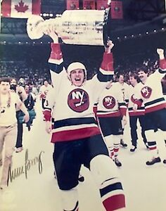 Autographed Photo Mike Bossy 1983 Stanley Cup