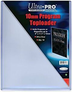 "Ultra Pro EXTRA THICK top loaders .. for PROGRAMS - 9.5"" x 11.5"""