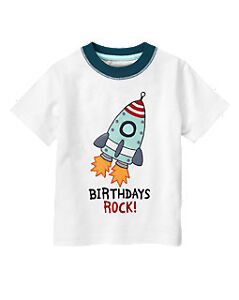 NWT Gymboree Boys Birthday Shirt Fun to Be 4 5 Birthdays Rock 2T 3T 4T 5T