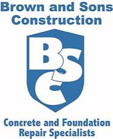LEAKING BASEMENT REPAIR  -  Brown & Sons Construction INC