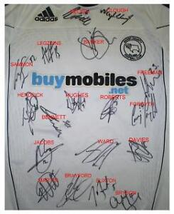 SUPERB MULTI SIGNED DERBY COUNTY SHIRT COA SIG MAP