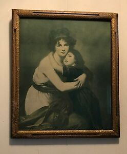 Antique Madame Vigee Lebrun and Daughter Framed Print