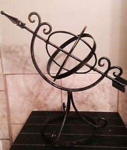 Wrought Iron globe sculpture.