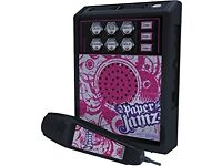Paper Jamz microphone, perfect condition, 5 voice effects, mp3 compatible and you can download