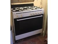90cm white gas range cooker