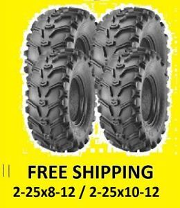 4-Six-Ply-Tires-Rear-25X10-12-Front-25X8-12-Suzuki-Eiger-400-King-Quad-450-700