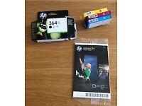HP ink cartridge 364XL plus 3 colours