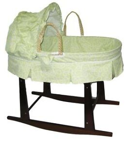 Jolly Jumper Basket stand and Moses basket: Green