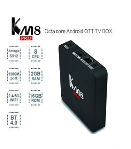 KM8 Pro Octa Core Amlogic S912 Android 6.0 TV Box Kodi 17 TV Box