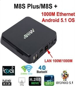M8S+ Quad Core CPU/Octa Core android TV box-Watch free TV