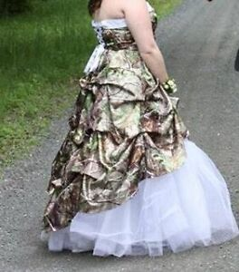 Camouflage prom dress