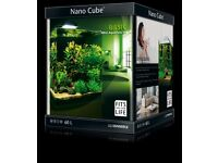 Dennerle Nano Cube 60L Fish Tank with Scapers CFL Light & Spare Bulb