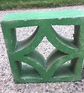 Vintage Concrete Garden Blocks (3 in total)