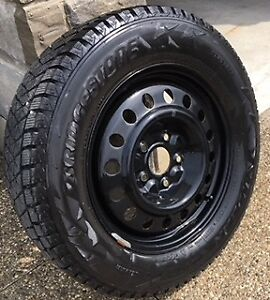 4 Bridgestone/Blizzak winter tires and rims 225/65R17