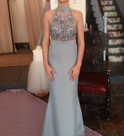 Prom dress - Gorgeous ice blue/silver colour, worn once.