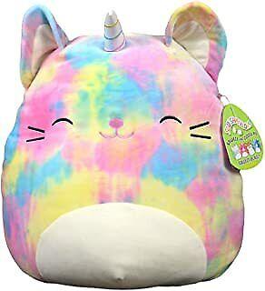 Squishmallow 16in, Cali The Caticorn,Stuffed Animal, Super Pillow Soft Plush Kit