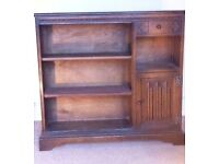 NEW PRICE Book shelves or cabinet with removable glass doors