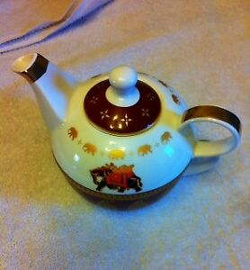 TeaPot and Cup: Tea-For-One, PPD German Bone China(2pcs)