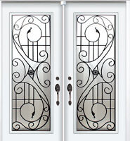 Double Front Door Wrought Iron