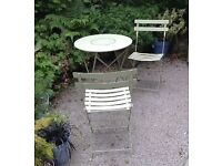 Fermob Table & Chairs - enjoy your morning coffee & paper in the garden!