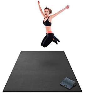 Large Exercise Mat: Home Gym Flooring - HIIT, Plyo, Cardio $100