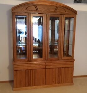 Oak China Buffet and Hutch