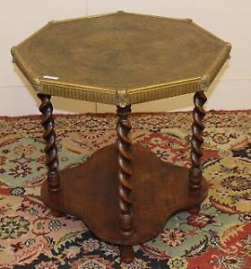 Vintage Art Deco Brass Top Coffee Table