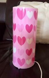 Pink Heart Beside Lamp