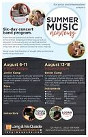 Dartmouth All-City and Long & McQuade Summer Band Camps