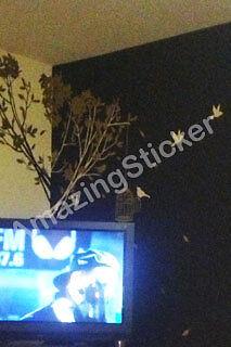 Large Tree Birds Flower Wall Art / Wall Stickers / Wall Decals / Wall Murals