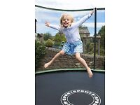 12ft Sportspower Pro Trampoline with folding safety enclosure