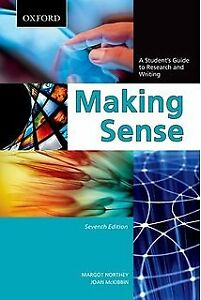 Making Sense Student Guide To Research & Writing 97801954445817