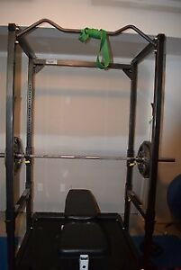 Power Rack and Olympic weights
