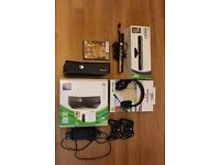Xbox 360 bundle: console, 2 wireless controllers, Kinect, wireless headset